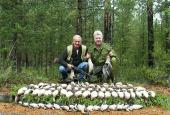 The Ducks and Geese hunting in Novgorod region